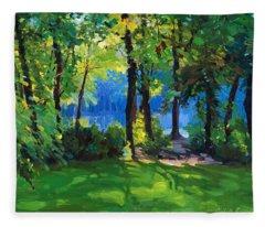 The Sunny Side Of A Pond Fleece Blanket