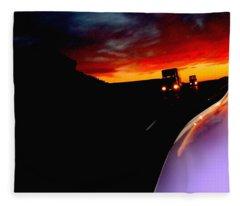 The Sunset Behind Us Fleece Blanket