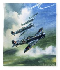 The Supermarine Spitfire Mark Ix Fleece Blanket
