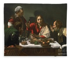 The Supper At Emmaus Fleece Blanket