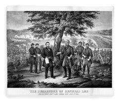 The Surrender Of General Lee  Fleece Blanket