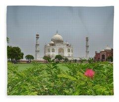 Fleece Blanket featuring the photograph The Taj Mahal by Chris Cousins