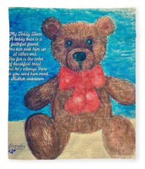 The Teddy Bear  Fleece Blanket