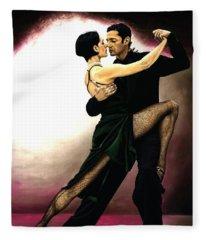 The Temptation Of Tango Fleece Blanket