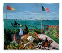 The Terrace At Sainte Adresse Fleece Blanket