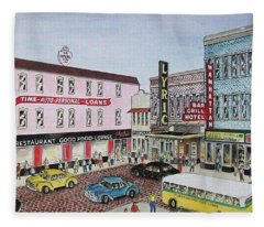 The Theater District Portsmouth Ohio 1948 Fleece Blanket