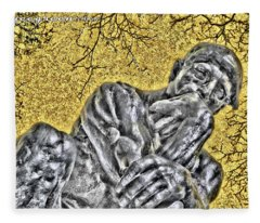 The Thinker - Study #1 Fleece Blanket