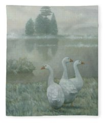 The Three Geese Fleece Blanket