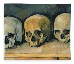 The Three Skulls Fleece Blanket