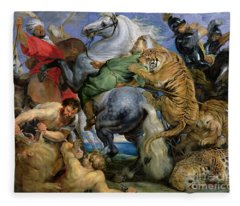 The Tiger Hunt Fleece Blanket