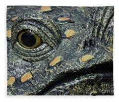 The Toad In The Garden Fleece Blanket