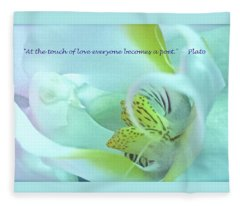 The Touch Of Love Fleece Blanket