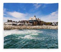 The Towers Of Narragansett  Fleece Blanket