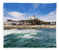 The Towers Of Narragansett  Fleece Blanket