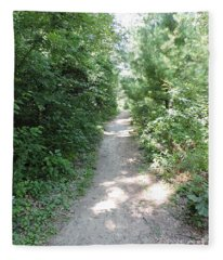The Trail Behind Me Fleece Blanket
