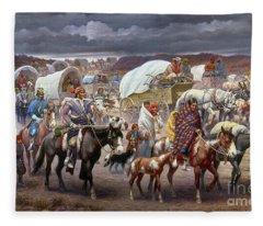 The Trail Of Tears Fleece Blanket