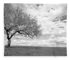 The Tree On The Hill Fleece Blanket