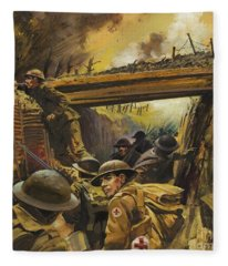 The Trenches Fleece Blanket