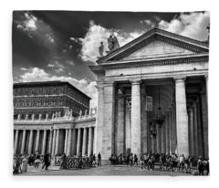 The Tuscan Colonnades In The Vatican Fleece Blanket