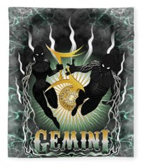 The Twins Gemini Spirits Fleece Blanket
