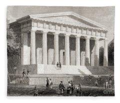 The United States Bank Philadelphia, Usa Fleece Blanket