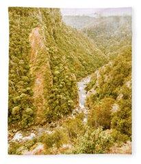 The Valley Below Fleece Blanket