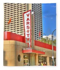 The Varsity Frontdoor Atlanta Georgia Landmark Art Fleece Blanket