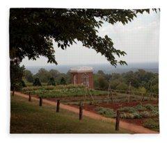 The Vegetable Garden At Monticello Fleece Blanket