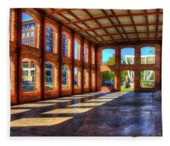 The Venue Old Mill Wedding Venue Reedy River South Caroline Art Fleece Blanket