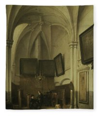 The Vestry Of St. Stevens Church In Nijmegen Fleece Blanket