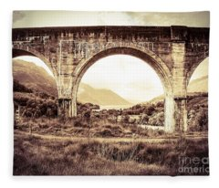 The Viaduct And The Loch Fleece Blanket