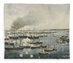 The Victorious Attack On Fort Fisher, 1865 Fleece Blanket