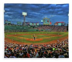 The View From Behind Home Plate - Fenway Park Fleece Blanket