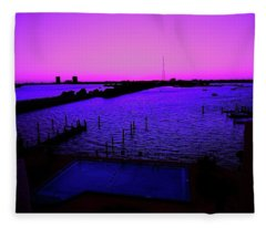 The Purple View  Fleece Blanket