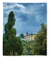 The Views From The Boboli Gardens Fleece Blanket