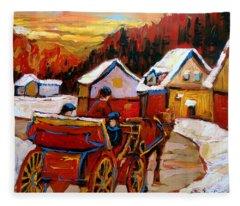 The Village Of Saint Jerome Fleece Blanket