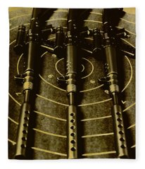 The Vintage Sniper Rifle Range Fleece Blanket