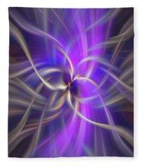 The Violet Flame. Spirituality Fleece Blanket