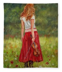 The Violinist Fleece Blanket