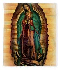 The Virgin Of Guadalupe  Fleece Blanket