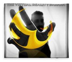The Virtual Reality Banana Fleece Blanket