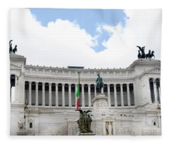The Vittoriano Is A Symbol Of A United Italy Fleece Blanket