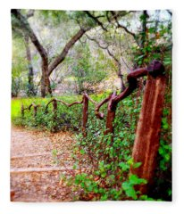 The Crooked Rail - Descanso Gardens Fleece Blanket