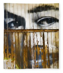 Fleece Blanket featuring the photograph The Walls Have Eyes by Skip Hunt