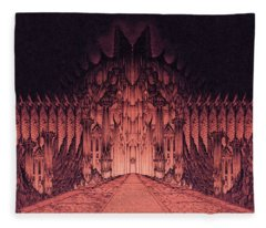 The Walls Of Barad Dur Fleece Blanket
