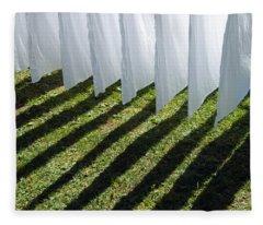 The Washing Is On The Line - Shadow Play Fleece Blanket