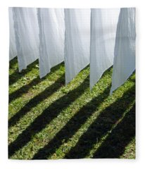 The Washing Is On The Line - Shadow Play Fleece Blanket