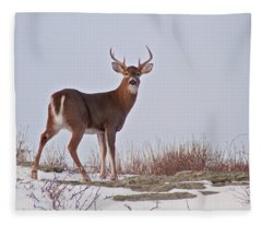 The Watchful Deer Fleece Blanket