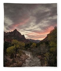 The Watchman Sunset Fleece Blanket