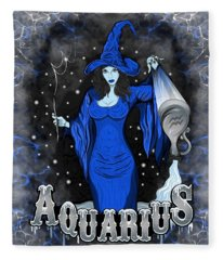The Water Bearer Aquarius Spirit Fleece Blanket